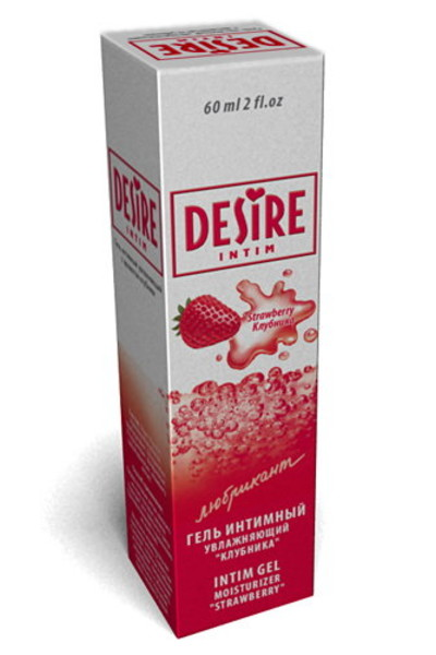 Гель-лубрикант Desire клубника 60мл.
