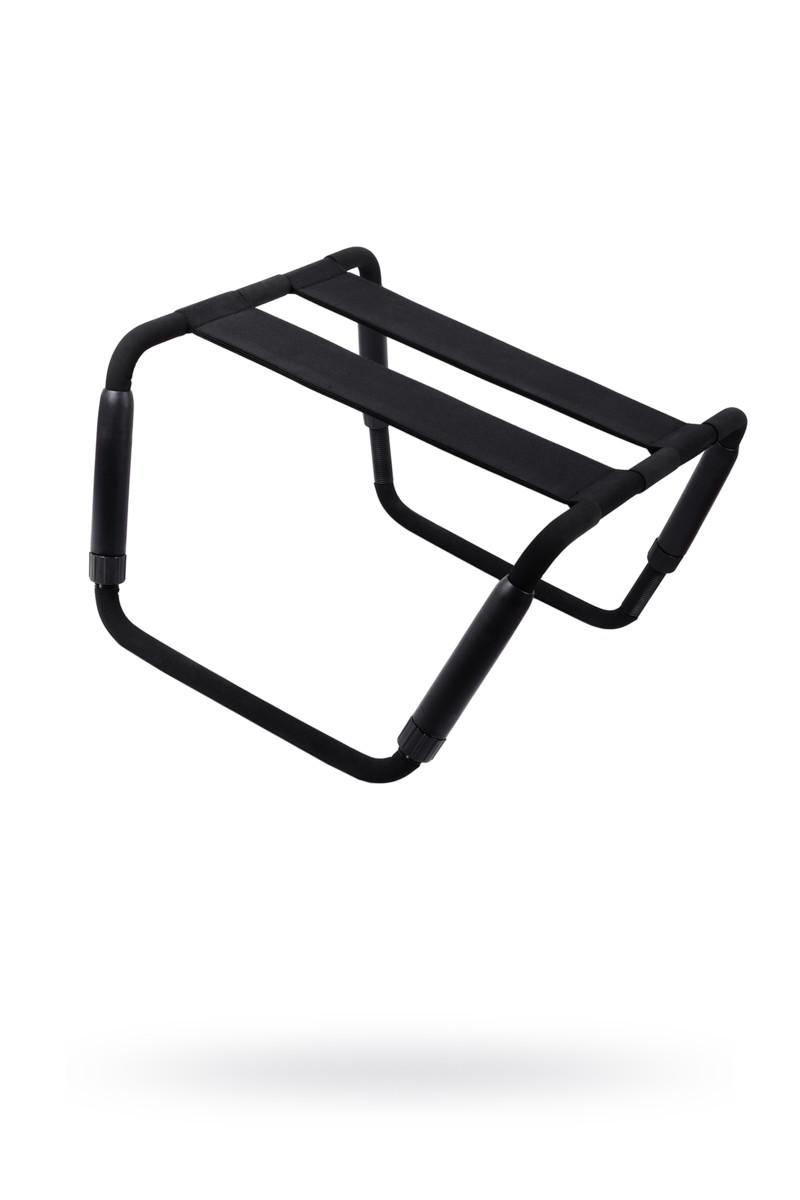 Раскладной стул для любовных игр Roomfun, металл и неопрен, чёрный