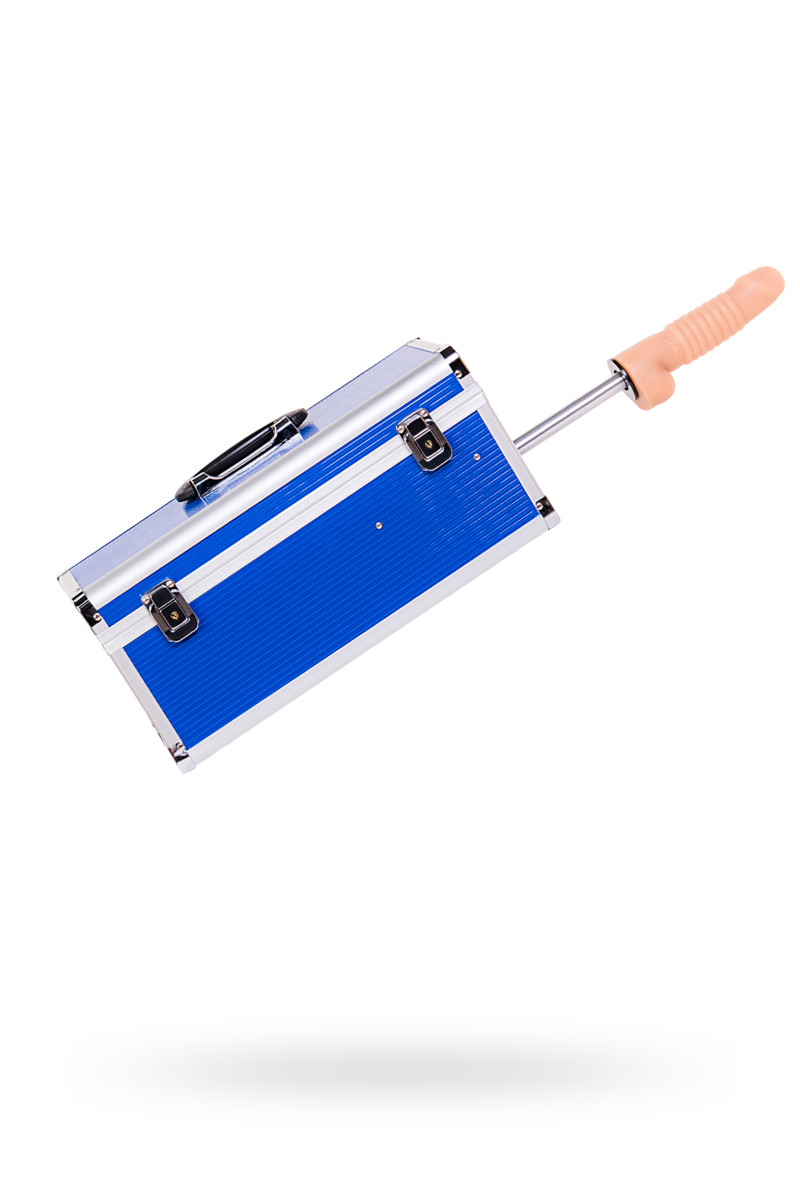 Секс-машина, Diva, Fuck Box c двумя насадками, металл, синий, 39 см