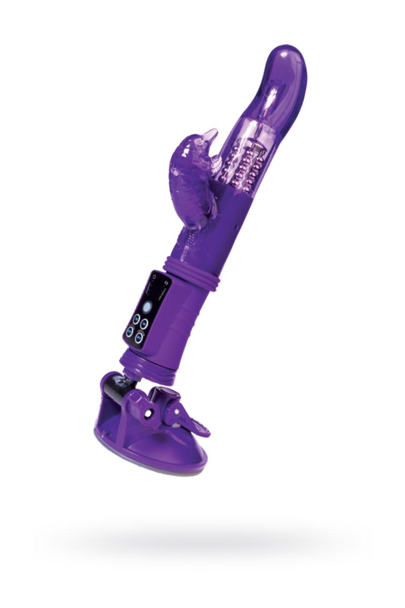 Вибратор с клиторальным стимулятором TOYFA A-Toys  , TPR, Фиолетовый, 22,5 см