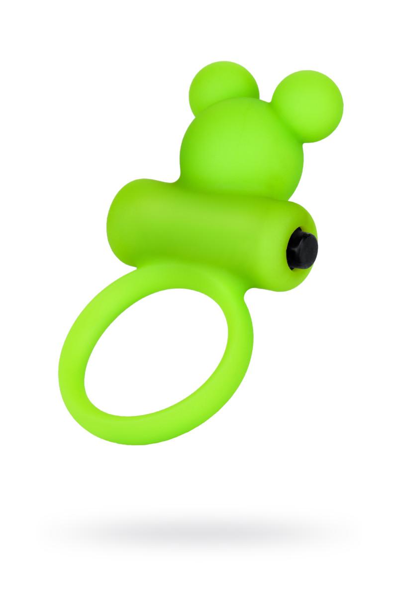 Виброкольцо на пенис A-Toys by TOYFA, силикон, зеленое, O 3,1 см