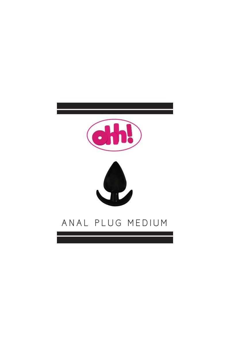 Анальная втулка OHH Toys Medium, TPR, чёрная, 8,5 см, O 4 см